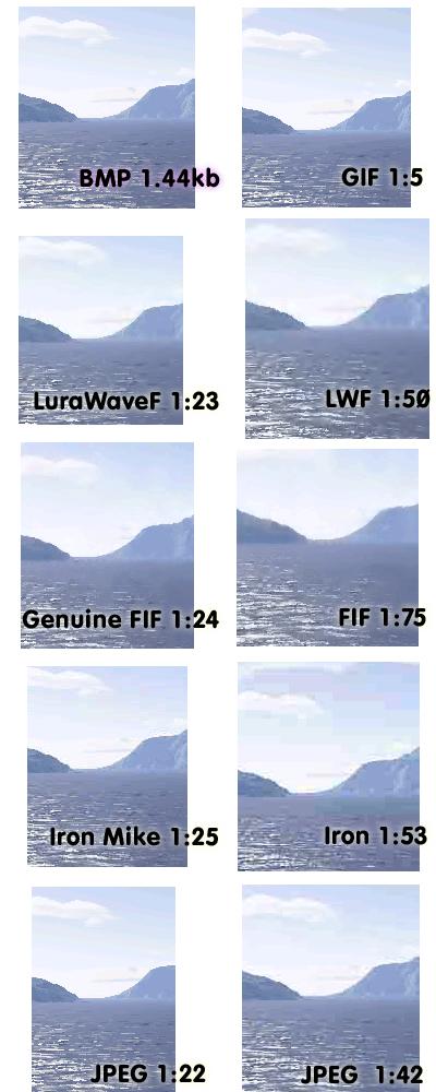 форматы изображений: